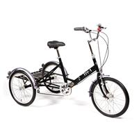 "Pashley Tri-1 Folding Trehjulssykkel 38 cm (15""), 7 gir, Buckingham Black"